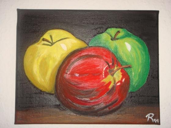 """Vista detalle - Bodegón """"Manzanas de colores"""" - Rostock 2014"""